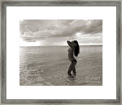 Beauty At The Beach Framed Print by Scott Cameron