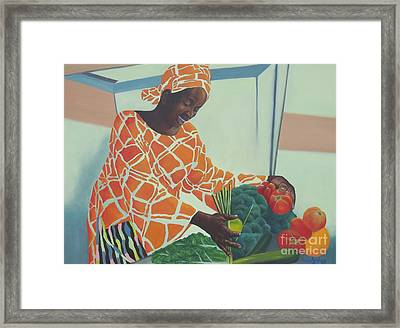 Beauty At Work Framed Print