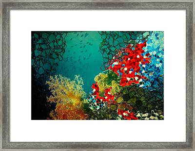 Beauty Below Framed Print by Lori Mellen-Pagliaro
