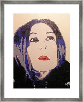 Beauty Beyond The Blue Framed Print by Ricklene Wren
