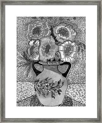 Beauty Black And White Framed Print