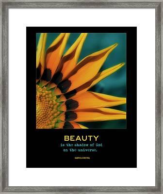 Beauty Framed Print by Bonnie Bruno