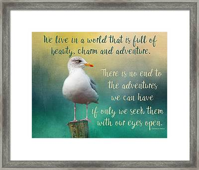 Beauty, Charm And Adventure Framed Print