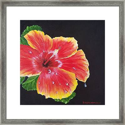 Framed Print featuring the painting Beauty  by Christie Minalga
