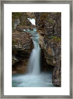 Beauty Creek Blue Waterfall Framed Print