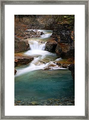 Beauty Creek Cascades Framed Print by Larry Ricker