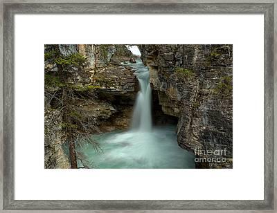 Beauty Creek Hidden Waterfall Canyon Framed Print