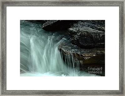 Beauty Creek Steaming Over The Edge Framed Print