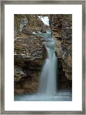 Beauty Creek Streams Od Blue Framed Print