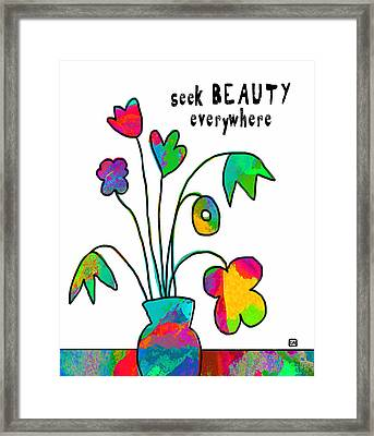 Framed Print featuring the painting Beauty Everywhere by Lisa Weedn