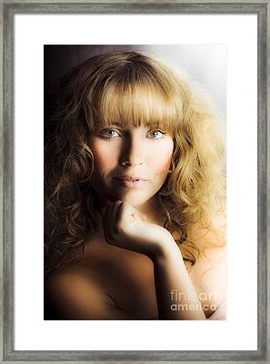 Beauty Glamour And Makeup Framed Print by Jorgo Photography - Wall Art Gallery