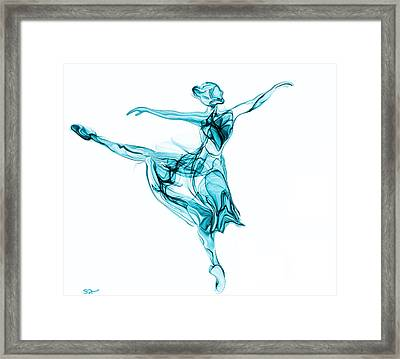 Beauty, Grace And Music Of The Ballerina Framed Print by Abstract Angel Artist Stephen K