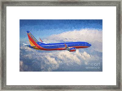 Beauty In Flight Framed Print