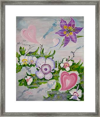 Beauty In The Breeze  Happy Valentines Day Framed Print by Phyllis Kaltenbach