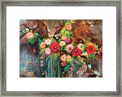 Beauty In The Cracks Framed Print by Frances Marino