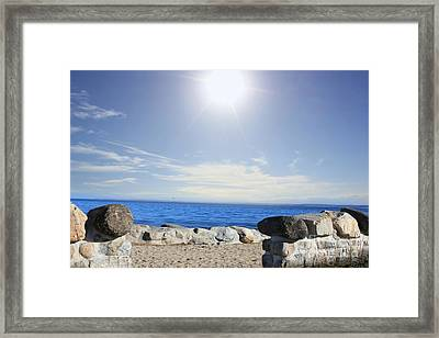 Beauty In The Distance Framed Print by Judy Palkimas