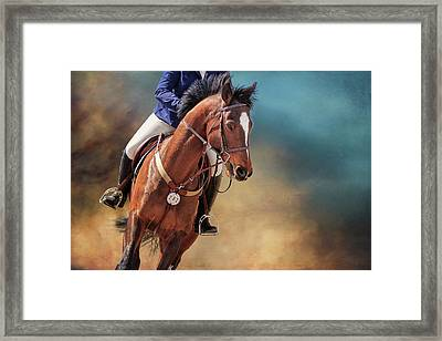 Beauty In The Dust Framed Print
