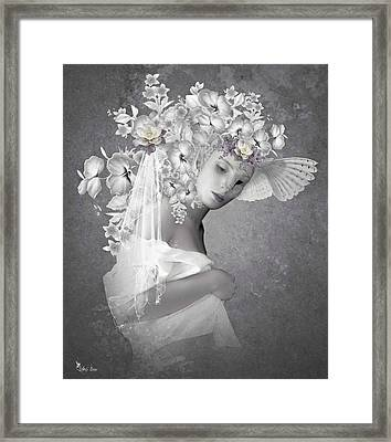 Beauty In The Eye Framed Print