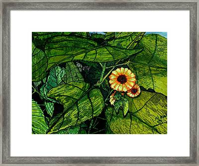 Beauty In The Midst Framed Print by Willie McNeal