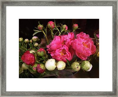 Beauty In The Whole Foods Flower Dept. Framed Print