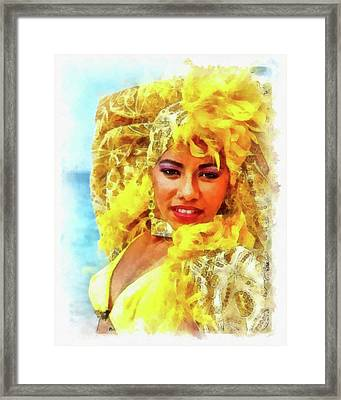 Beauty In Yellow Framed Print