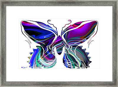 Beauty Is A Summer Butterfly. Framed Print by Abstract Angel Artist Stephen K