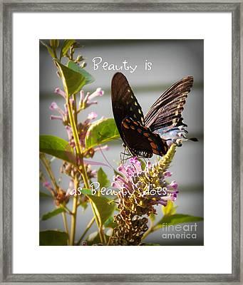 Beauty Is Framed Print by Anita Faye