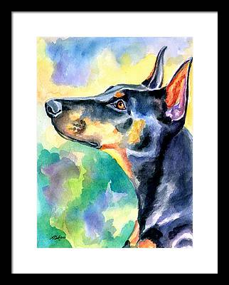 Doberman Pinscher Framed Prints