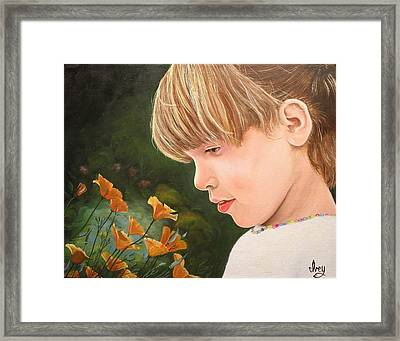 Framed Print featuring the painting Beauty by Mike Ivey