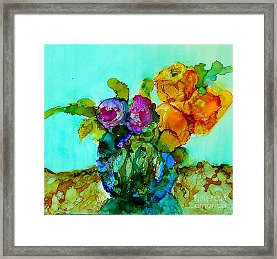 Framed Print featuring the painting Beauty Of Flowers by Priti Lathia