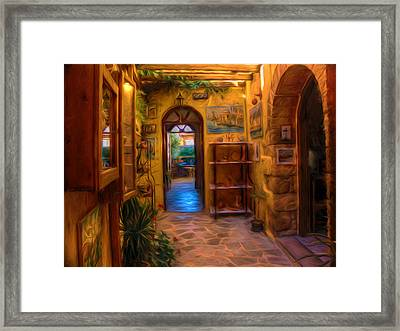 Beauty Of Greek Architechture Framed Print by Georgiana Romanovna