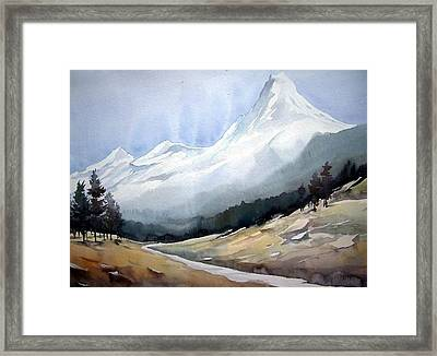 Beauty Of Himlayan Peaks Framed Print by Samiran Sarkar