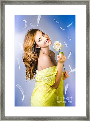 Beauty Of Romance Floating In The Summer Breeze Framed Print