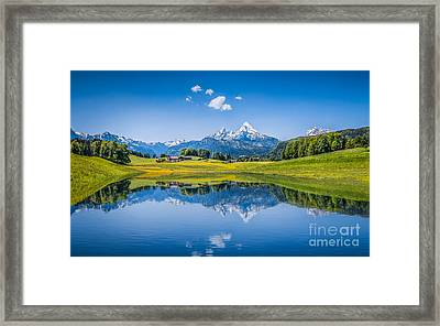 Beauty Of The Alps Framed Print by JR Photography