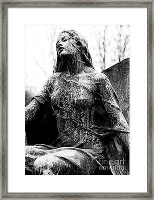 Beauty Of The Cemetery Framed Print