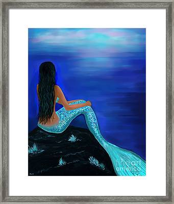 Framed Print featuring the painting Beauty Of The Isle by Leslie Allen