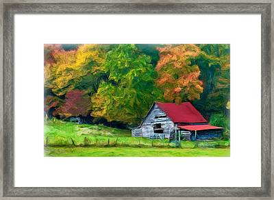 Beauty Of The Leaves Framed Print by Bobby Blanton