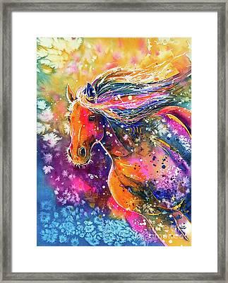 Framed Print featuring the painting Beauty Of The Prairie by Zaira Dzhaubaeva