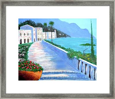 Beauty Of The Riviera Framed Print