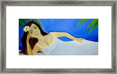 Framed Print featuring the digital art Beauty On The Beach by Saad Hasnain