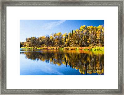 Beauty On The Big Fork Framed Print