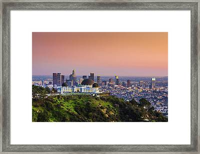 Beauty On The Hill Framed Print