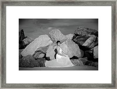 Beauty On The Rocks Framed Print by Stefanie Silva