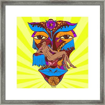 Beauty On The Rose Colored Framed Print by Kenal Louis