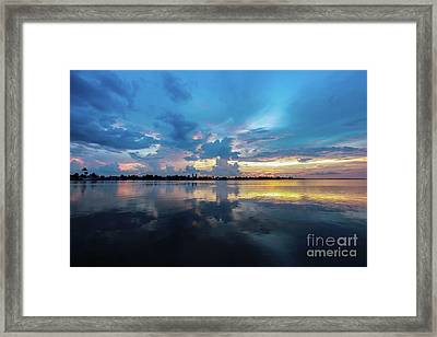Beauty Over The Water Framed Print