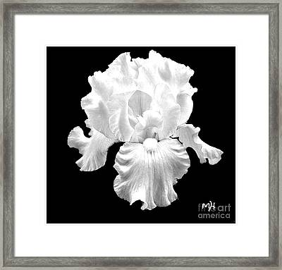 Beauty Queen In Black And White Framed Print