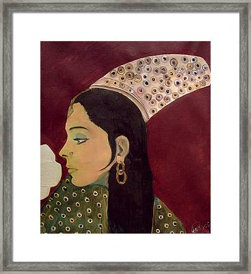 Framed Print featuring the mixed media Beauty Queen Of The Mughals by Saad Hasnain