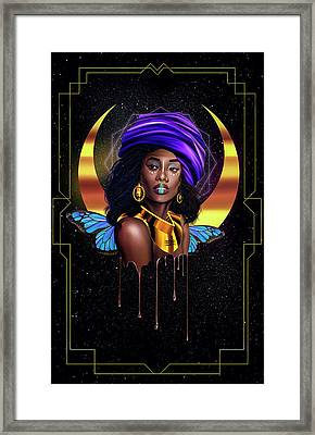 Beauty Queen Tia Framed Print by Kenal Louis