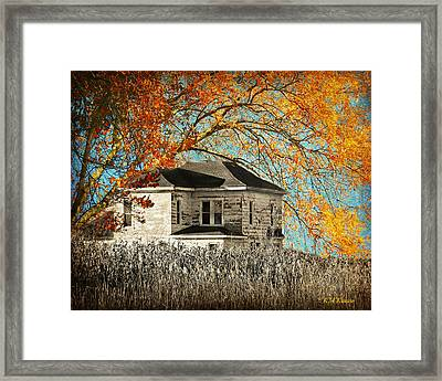 Beauty Surrounds Deserted Home Framed Print by Kathy M Krause