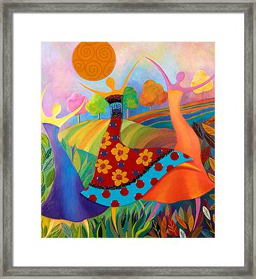 Beauty Through Her Seasons Framed Print by Anne Nye
